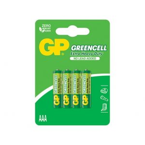 1ca7aece25dde6e30cf8dd28f472a6365b141467 300x300 - باتری نیم قلمی جی پی Green Cell بسته 4تایی