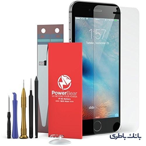 5c566761bfc5ee51e31690296e7e93f9fc6a3d52 1488301063 - باتری موبایل اپل 6 پلاس برند Power Bear با ابزار تعمیر