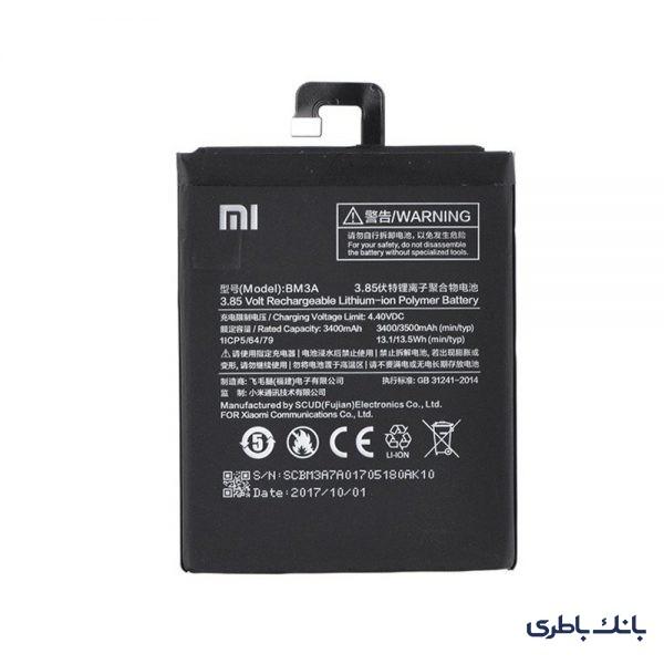 باطری موبایل شیائومی NOTE 3 با کد فنی BM3A