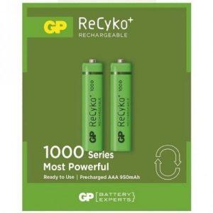 2 x r03 aaa gp recyko 1000 series 950mah 300x300 - باتری نیم قلمی قابل شارژ جی پی +ReCyko با ظرفیت 950 میلی آمپر