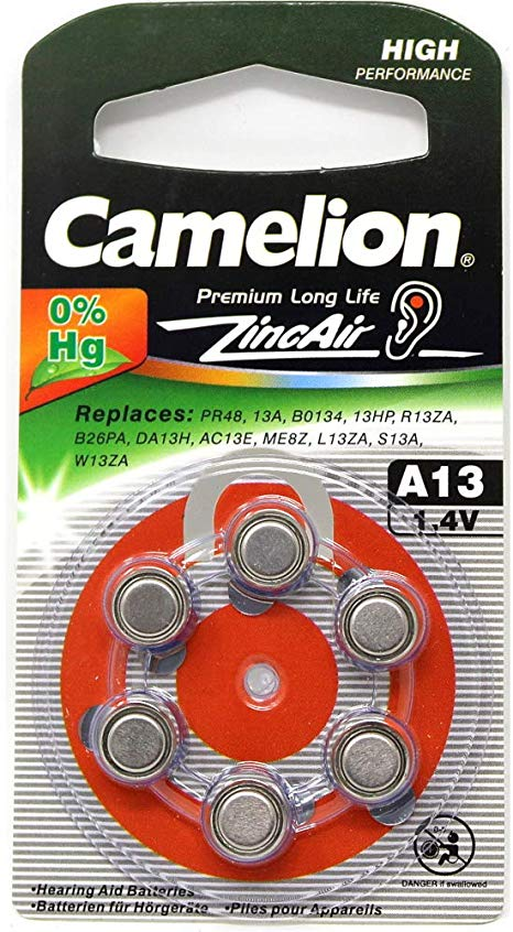 camelion size13 hearing aid