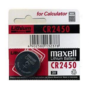 باتری سکه ای لیتیوم Maxell سایزCR2450