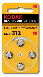 kodak size312 hearing aid