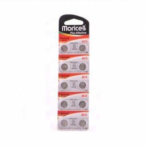 باتری سکه ای الکالاین Moricell سایز AG10  هرعدد